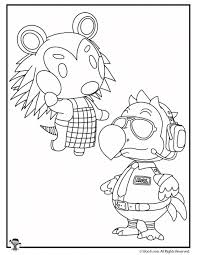 These free, printable animal coloring pages provide hours of fun for kids! Animal Crossing Coloring Pages Woo Jr Kids Activities