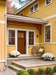 Flowers is a perfect addition to a front porch decor.