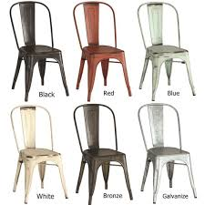 armless metal dining chairs. vintage distressed rustic metal dining chairs (set of 4) armless r