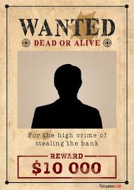 printable western wanted poster template 1 word templatelab exclusive
