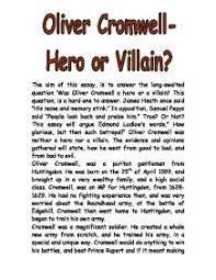 cromwell villain essay oliver cromwell villain essay