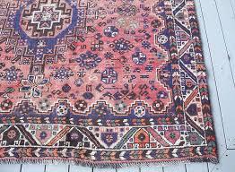 pink persian rug vintage uk kerman