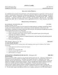 Technical Proficiency Resumes Clark Anita Resume