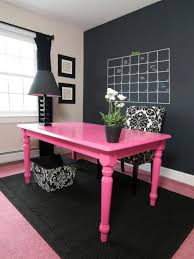 feminine home office. Feminine Home Office With Black White And Pink Decor 768x1024