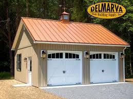 2 car garage pole building