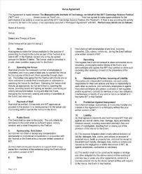 Venue Contract Template 7 Event Venue Contract Templates Pdf Word Google Docs
