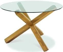 bentley designs lyon oak glass top round dining table dia 120cm