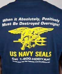 1 800 Hooyah Navy Seal T Shirt