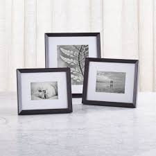 Icon Black Picture Frame | Crate and Barrel