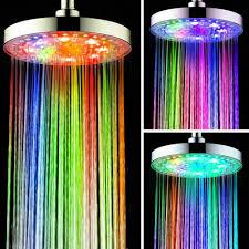 Details Zu Großer Duschkopf Regendusche Kopfbrause Rund Regenbrause Led Licht Beleuchtung