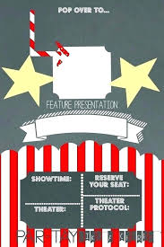 Theatre Invitation Templates Free Movie Themed Wedding Invites Cute Invitations If The Weddings Held