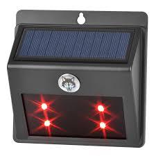 Solar Powered Red Led Lights Solar Powered Led Animal Repeller Red Light Wall Lamp For Garden Pasture Fence