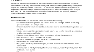 Inside Sales Resume Receiving Inspector Sample Resume Nursing