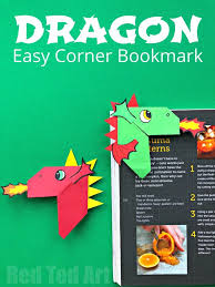 easy dragon bookmark corner how to make a dragon corner bookmark quickly and easily love this chinese new year craft for kids so cute dragon bookmark