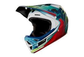 Fox Rampage Pro Carbon Kustom Full Face Helmet White Red Black