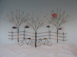 bikes trees bicycle metal wall art steel stained varnished sculpture small unique park playing garden on bicycle metal wall art uk with wall art decor ideas bikes trees bicycle metal wall art steel