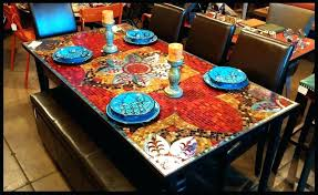 tile top dining tables tile top patio dining table stone harbor in round slate tile top