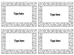 4 to a page template flash card template 4 cards per page by southern chic estate tpt