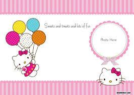 Free Hello Kitty Blank Invitation With Photo Printable