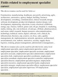 Employment Specialist Resume