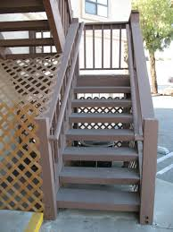 Outdoor Staircase how to strengthen bottom newel post on 4 x 12 closed wood stair 1394 by xevi.us
