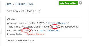 Publication Citation Page Number Is Duplicated In Book Chapter