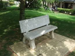 decorative concrete garden benches winsome wonderful outdoor concrete benches treenovation intended for
