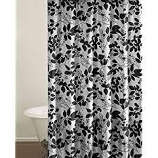 black and white flower shower curtain. stylish black and white floral shower curtain flower s