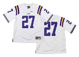 Nike Ncaa Big Boys Youth Lousiana State Lsu Tigers 27 Football Jersey White