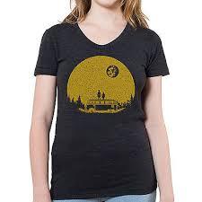 "<b>Hello Moon</b> Graphic printed on Women's ""Junior Size"" American ..."