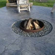 concrete patio with fire pit. Exellent With 1b481ddeb0376cf155dbed0d8d9b6701backyardfirepitsbackyardpatiojpg Intended Concrete Patio With Fire Pit A