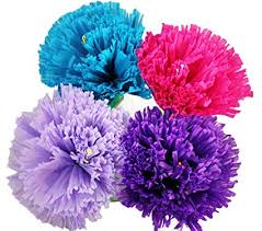 Large Tissue Paper Flower Mexican Paper Flower Set Of 4 X Large Tissue Paper Hand Made Party Fiesta Decor Carnation