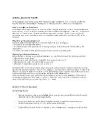 Sample Objectives For Resume Interesting Examples Of Career Objectives On Resume Best Objective For Resume