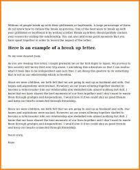 6 Break Up Letters Cook Resume