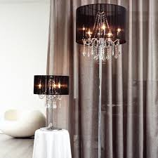 paris 3 light chrome table lamp with black string shade