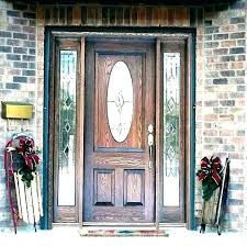 frosted glass exterior door s panel decorating front entry
