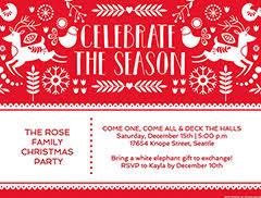 Free Christmas Invitation Template Christmas Invitation Maker Create Free Christmas