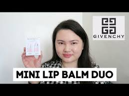 <b>Givenchy My</b> Mini Lip Balm Duo Review + Try On | Tracey Studio ...