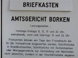 Check spelling or type a new query. Amtsgericht Borken Nacht Brief Kasten