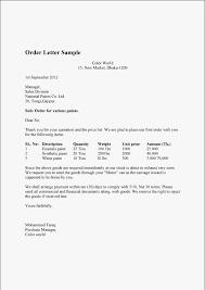 Order Letter Sample And Order Confirmation Letter Sample