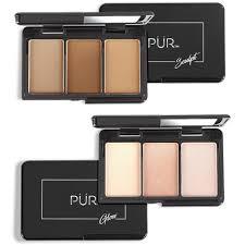 quick pro portables sculpt glow on the go contour and highlight palette pair makeup