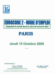 Comprednre L Eurocode 2 Par H Thonier