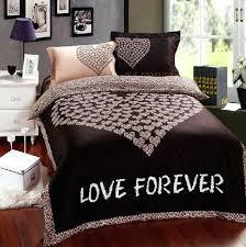 brown leopard print love comforter bedding set queen romantic gift comforters sets duvet quilt cover bed linen sheet bedspread from teal and uk