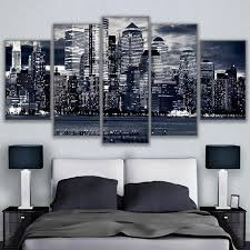 canvas pictures wall art living room 5 pieces black white chicago cityscape painting home decor hd on cheap black and white canvas wall art with canvas pictures wall art living room 5 pieces black white chicago