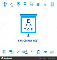 Eye Chart Test Vector Icon Stock Vector Sokolfly 132426820