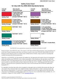 Ansi Color Chart Standards Ansi Nema Z535 2011