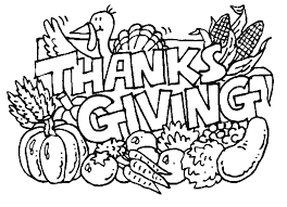 Happy Thanksgiving Coloring Pages Quotes Clip Art Library