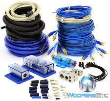 awg multi car audio amplifier kits 4 gauge 8 gauge 2way amp power 3 rca wires 5000 watt install amplifier kit 0 6