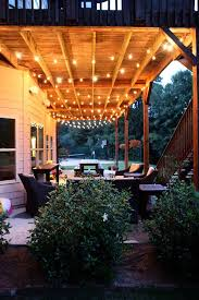 outdoor patio lighting ideas diy. Light Up The Space Under Your Deck With Umbrella Lights! Outdoor Patio Lighting Ideas Diy