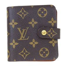 auth louis vuitton compact zip bifold wallet monogram leather m61667 07bj164